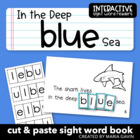 "Interactive Sight Word Reader ""In the Deep Blue Sea"""