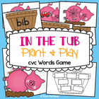 In the Tub - cvc Game / Literacy Center - Suits Mrs Wishy Washy