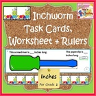Inchworm Task Cards - Worksheet - and Rulers