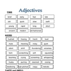 Increasing Vocabulary with Adjectives