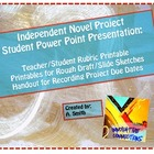Independent Novel Power Point Project for Students with Rubric