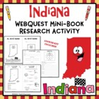 Indiana Web Quest Research Mini-Book Activity