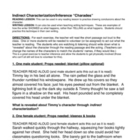 Indirect Characterization/Inference Lesson Charades Activity