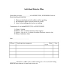Individual Behavior Plan with Warning Cards