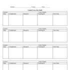 Individual Guided Math Chart