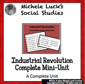 Industrial Revolution COMPLETE 6 Day Block UNIT