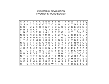 Industrial Revolution Inventions Worksheet