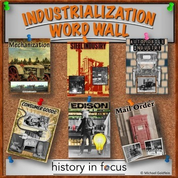 INDUSTRIAL REVOLUTION WORD WALL - COLORFUL CLASSROOM DECORATION