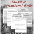 Industrial and Cultural Revolution Vocabulary Chart Studen