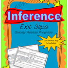 Inference Common Core Exit Slips Grades 6th to 8th
