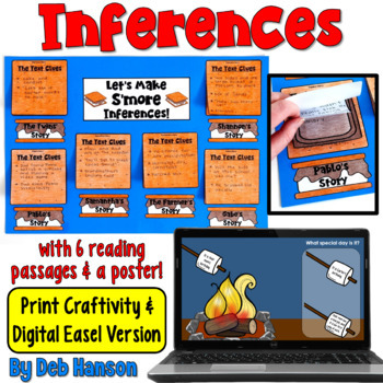 http://www.teacherspayteachers.com/Product/Inference-Craftivity-Lets-Make-Smore-Inferences-744776