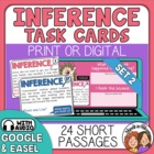 Inference Task Cards SET 2: 24 Cards with Short Stories and Questions