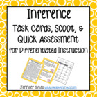 Inference Task Cards, Scoot Game, Multiple Choice Practice