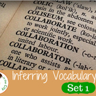 Inferring Vocabulary Cards Set 1