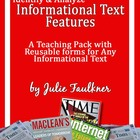 Informational Nonfiction Text Features Lesson for Definiti