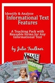 Informational Nonfiction Text Features Lesson Pack {Modern