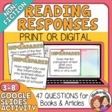 Informational Text (Nonfiction) Question Cards for Any Tex