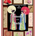 Informational Text Pack for March:  Umbrellas and Barbie