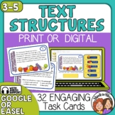 Informational Text Structures Task Cards: 32 Multiple Choi