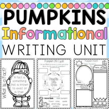 Informational Writing Pumpkin Themed First and Second Grade Common Core