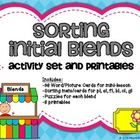 Initial Blends Activity Set & Printables: bl cl fl gl pl s