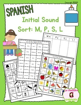 Beginning Sound Recognition: Initial Sound Word Sort - MPSL (Spanish)