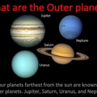 Inner and Outer Planets of the Solar System Power Point Lesson