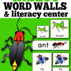 Insect Word Wall Cards: Hand Illustrated