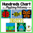 Bugs/Insects Hundreds Chart Mystery Pictures