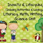 Insects & Lifecycles MEGA Unit for Literacy, Math, & Scien