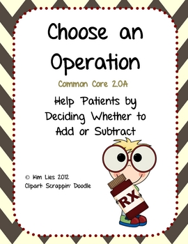 Instant Math Choose an Operation Add or Subtract