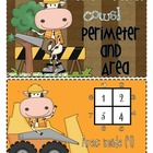 Instant Math Construction Cows Area and Perimeter