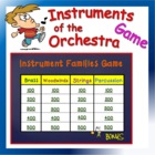 Instruments of the Orchestra Jeopardy