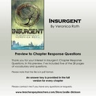 Insurgent: Chapter to Chapter Response Questions