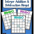 Integer Addition and Subtraction Bingo
