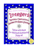 Integer Worksheet: Tables with Steps - Add, Subtract, Mult
