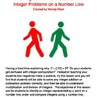 Integers - Addition and Subtraction Using a Number Line