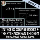 Integers, Square Roots, Pythagorean Theorem PowerPoint Rev