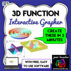 Interactive 3D Grapher with FREE Software