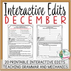 Interactive Edits for December: Looking at Grammar and Mec