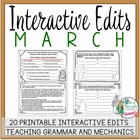 Interactive Edits for March: Looking at Grammar and Mechan