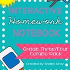 Interactive Homework Notebook {Grade 3/4 COMBO PACK}