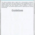 Interactive Journal Guidelines (Science) with TEKS
