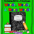 Spelling, Word Work, Vocabulary: Interactive Journal Printables
