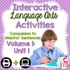 Interactive Language Arts Notebook for FIRST Mentor Sentence Unit