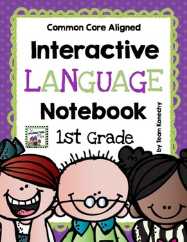 Interactive Language Notebook for First Grade (Common Core Aligned)