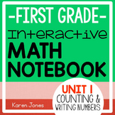 Interactive Math Notebook for 1st grade {Unit 1: Counting
