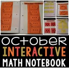 Interactive Math Notebook for October for Second Grade