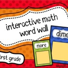 Interactive Math Word Wall Primary Colors {First Grade}