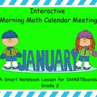 Interactive Morning Math Calendar Meeting SMARTBoard for J